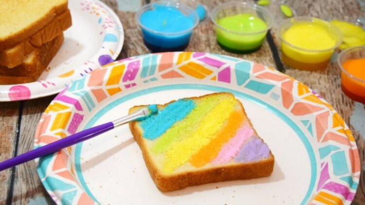 Marshmallow Edible Paints for Rainbow Toast