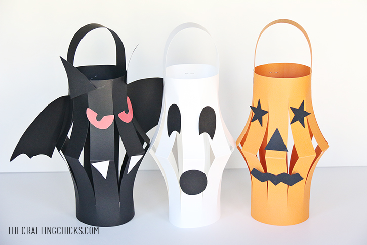Halloween Paper Lanterns Kid Craft