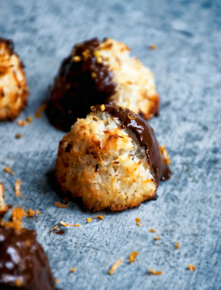 Chocolate Orange Coconut Macaroons