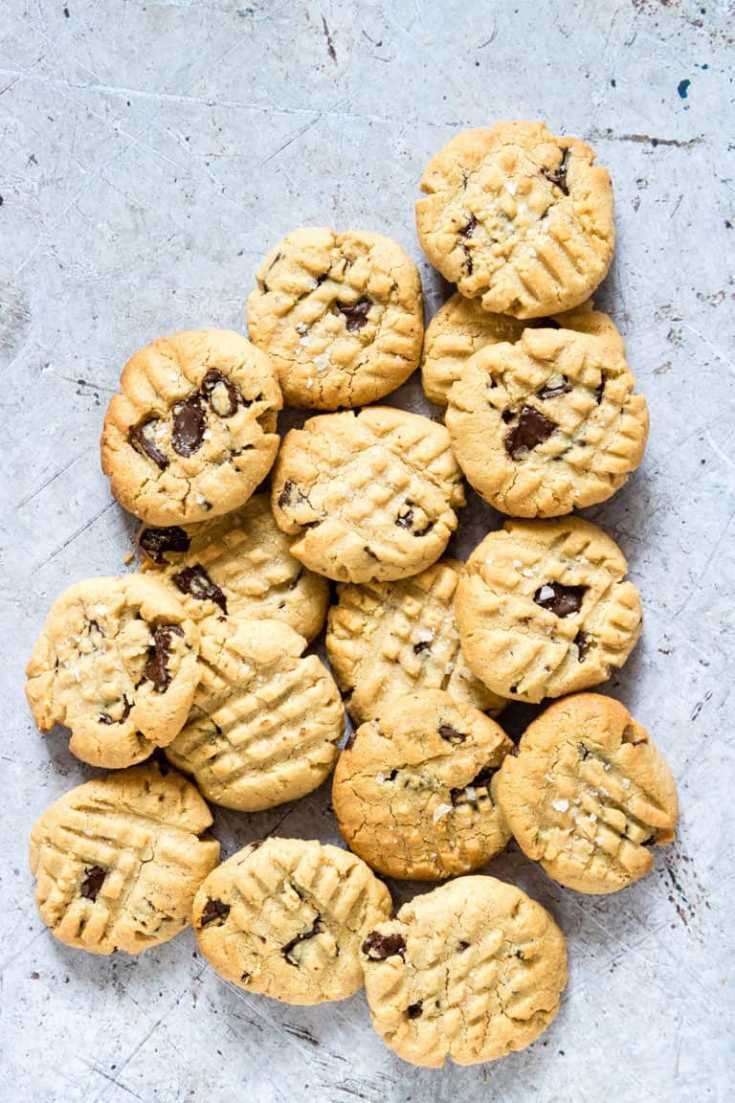 Salted Chocolate Vegan Peanut Butter Cookies {Gluten-free, Vegan}