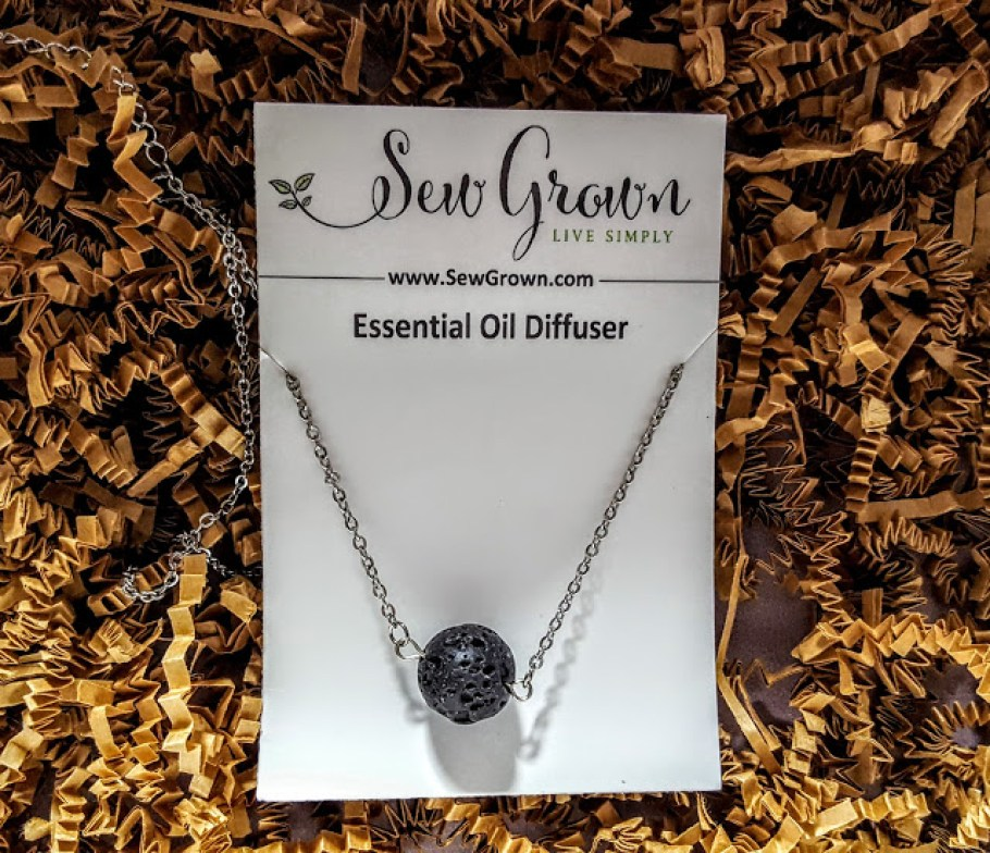 lava stone diffuser necklace sew grown