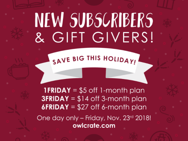 owlcrate black friday