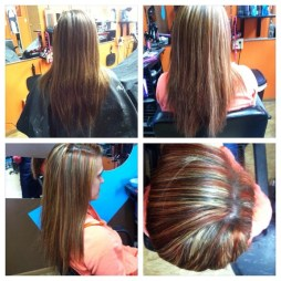 megan mitchell - platinum hair design - New Castle - Indiana - hair salon - red highlights