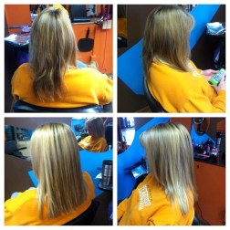 megan mitchell - platinum hair design - New Castle - Indiana - hair salon - rust removal and highlights