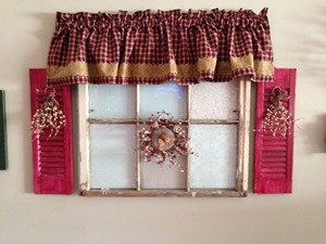 pinterest inspired - repurposed old window