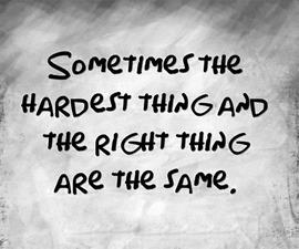 hard thing right thing