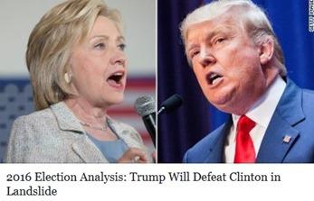 Trump Will Defeat Clinton in Landslide