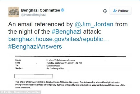 hillary clinton email to chelsea the night of benghazi attacks
