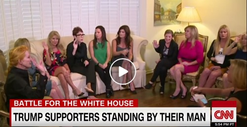 anderson cooper women support trump after trump tapes