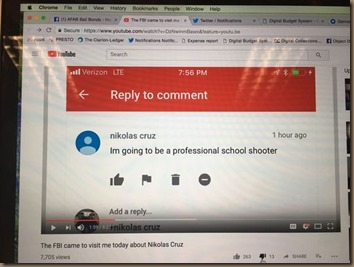 nikolas cruz youtube-comment