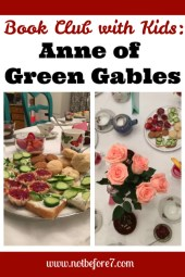 Celebrate Anne of Green Gables with a tea party themed book club for kids.