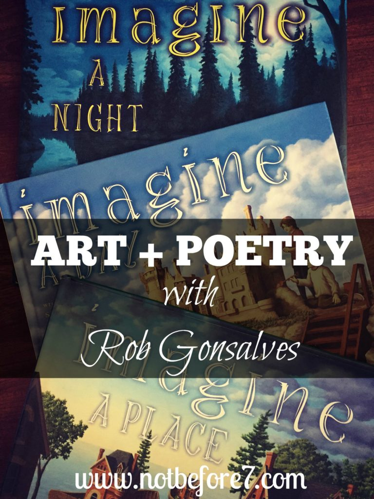 Art and Poetry come together in these beautiful books by Rob Gonsalves.