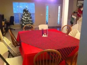 Advent Dinner Table