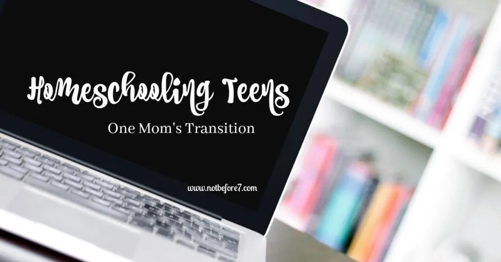 One mom's journey from homeschooling little ones as they grew up and the first one became a teen. She shares her widsom about handing that transition.