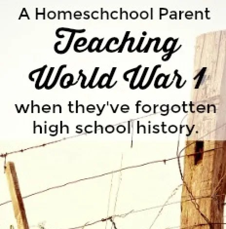 A Homeschool Mom Teaches WWI History