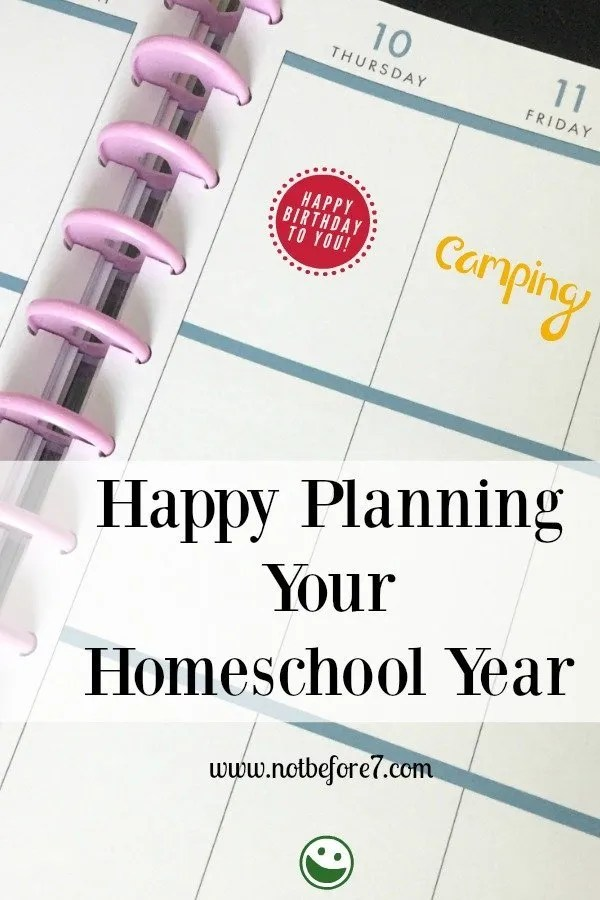 Plan Your Year Kit and the Happy Planner work well together for the perfect homeschool and life planner.