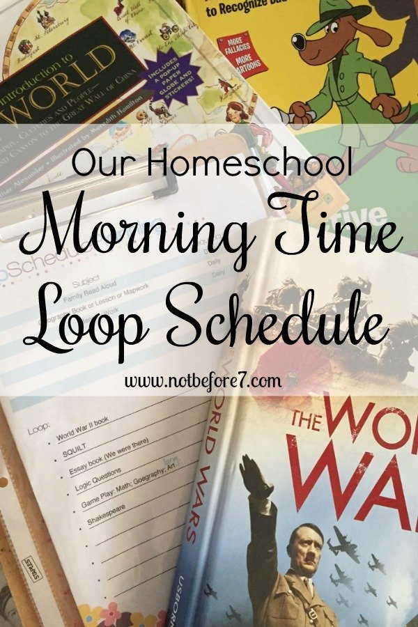We worked out a loop schedule for our Morning Basket Time.