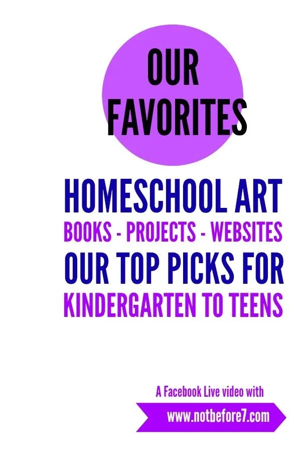 The art resources we have used in our homeschool for kids in kindergarten through high school.