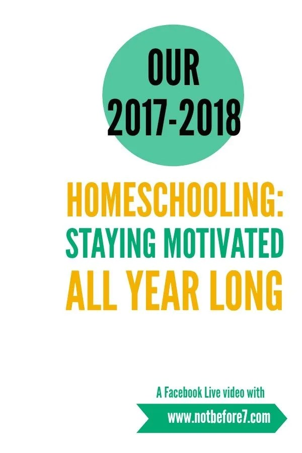Its hard to remain motivated during the homeschool year. Today we talk about some ideas to keep up your energy and motivation all year long.