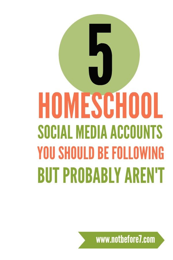 We all know the big names in social media, but today I wanted to share five accounts you might not be following but probably should. They inspire and encourage me in my homeschool journey.