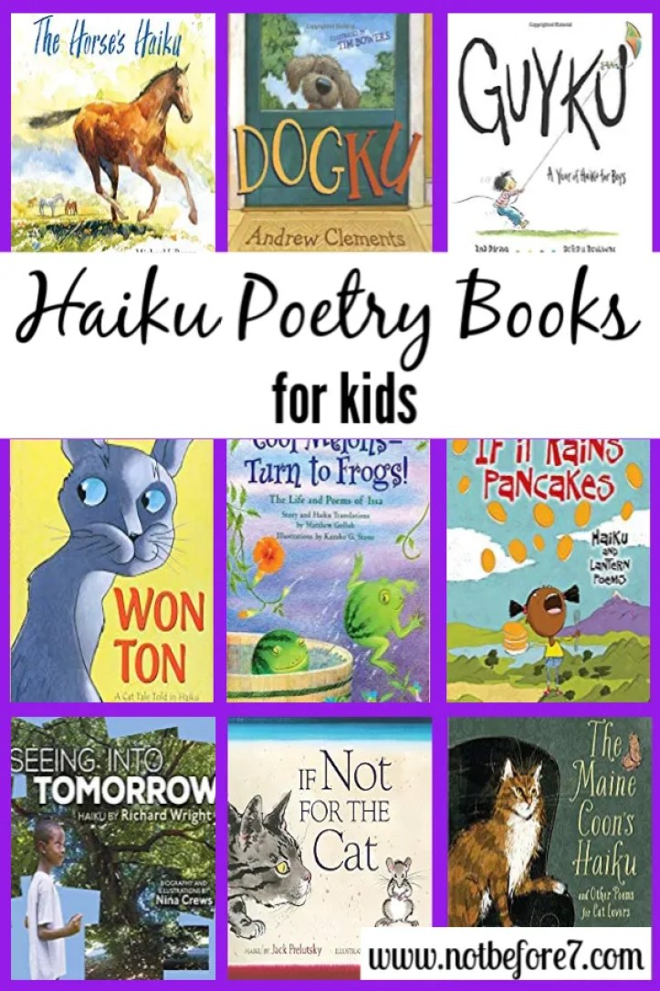 Haiku poetry books for kids.