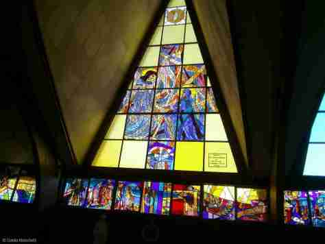 beautiful stained glass window in Regina Mundi church in Soweto