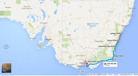Sapphire Coast map