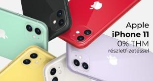 Apple iPhone 11 0% THM részletfizetéssel