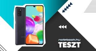 Samsung Galaxy A41 teszt