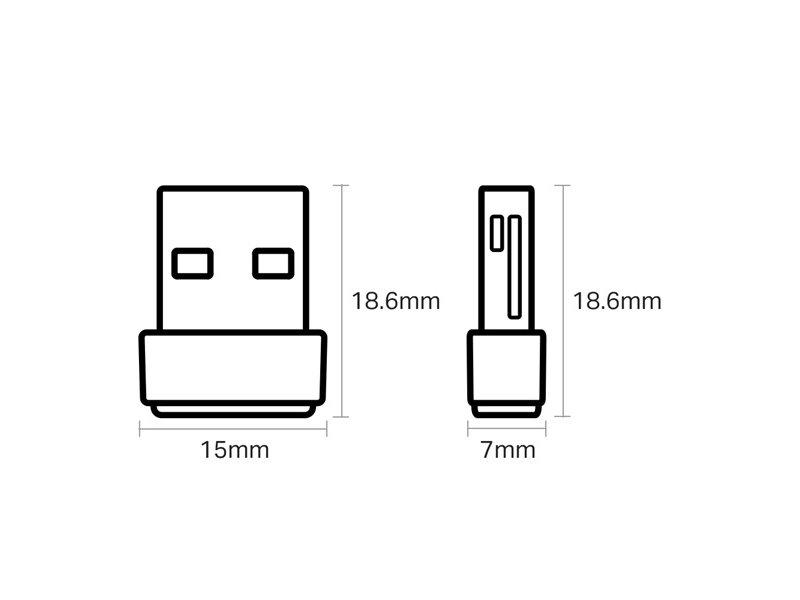 TP-LINK AC600 Wireless USB Adapter USB Dual Band (ARCHER