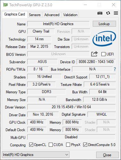 Asus Transformer Book T102HA (x5-Z8350, 4 GB, 128 GB