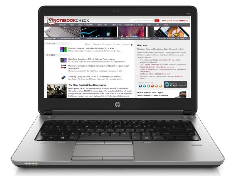 Review HP ProBook 645 G1 Notebook Reviews