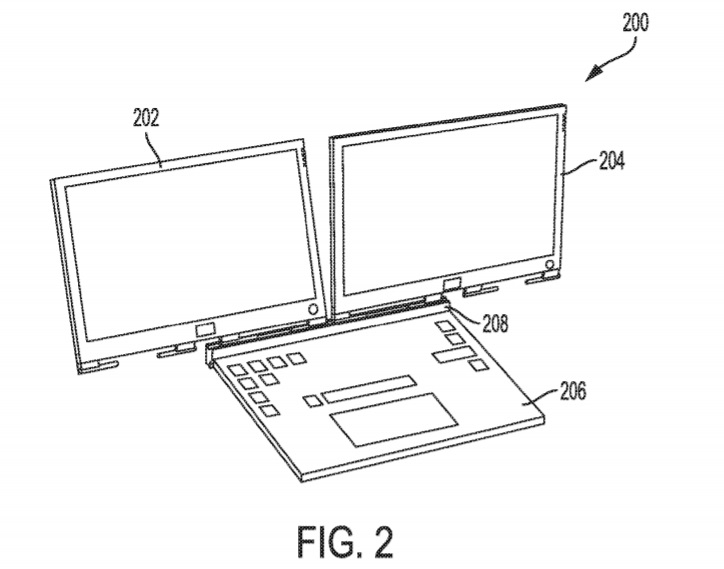 Dell patents detachable dual-display laptop design