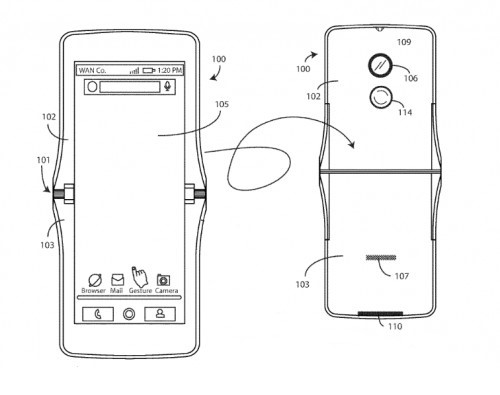 Patent reveals possible return of Motorola's RAZR as a