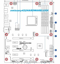 asus x470 prime pro board layout schematic source hardwareluxx  [ 986 x 1200 Pixel ]