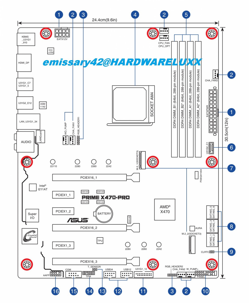 medium resolution of asus x470 prime pro board layout schematic source hardwareluxx