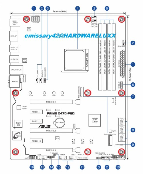 small resolution of asus x470 prime pro board layout schematic source hardwareluxx