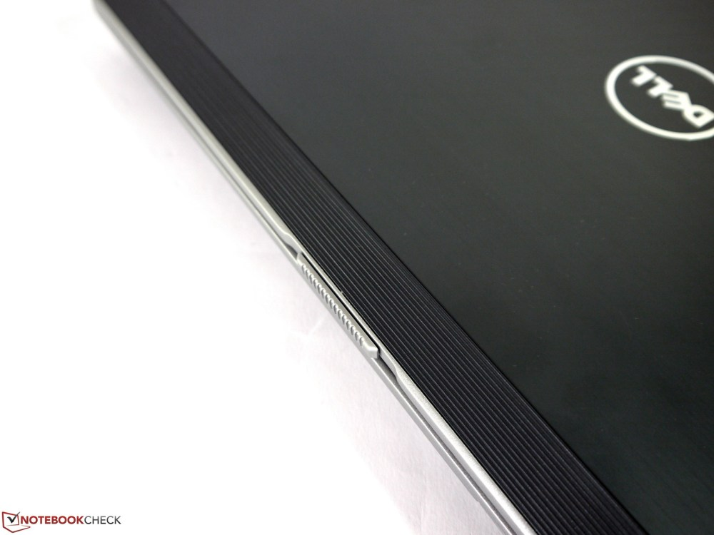 medium resolution of nonslip edge for opening the display and the brushed metal surface
