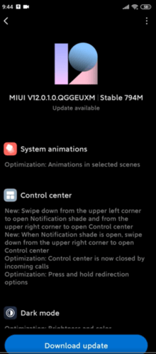 V12.0.1.0.QGGEUXM is rolling out to the Redmi Note 8 Pro now. (Image source: r/Xiaomi)