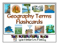 Geography Terms Flash Cards