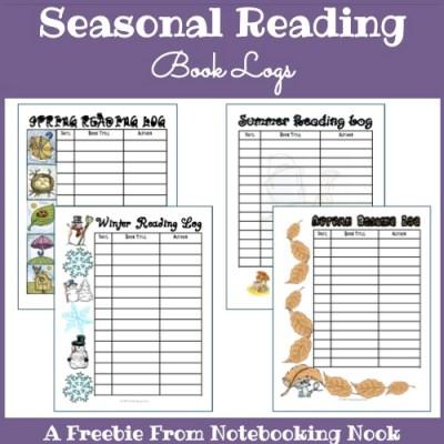 Freebie: Seasonal Reading Book Logs