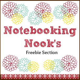 Notebooking Nook's Freebies Section