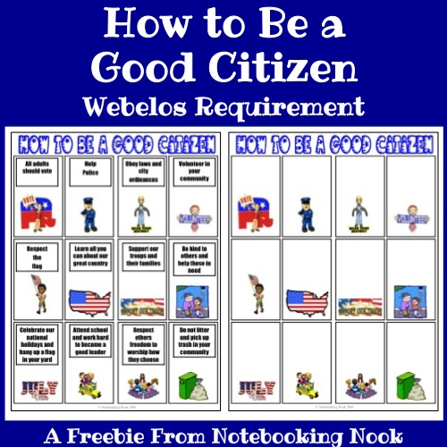 How To Be A Good Citizen Webelos Requirement