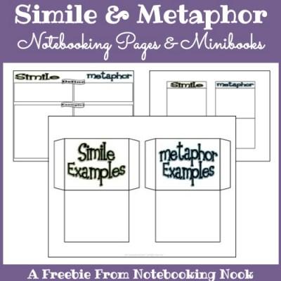 Freebie: Simile & Metaphor Notebooking Page & Minibooks