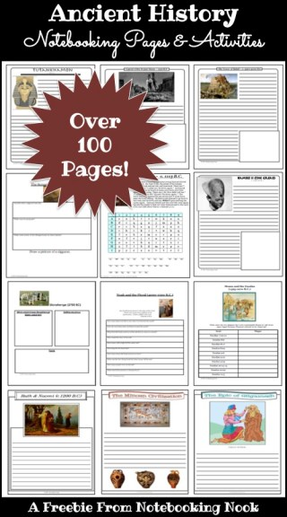 Freebie: Ancient History Notebooking Pages and Activities
