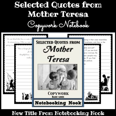 New Title: Selected Quotes from Mother Teresa