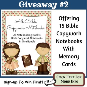 Giveaway #2 - All Bible Copywork Notebooks