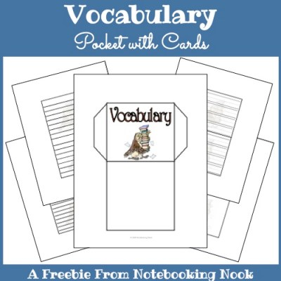 Vocabulary Pocket with Cards