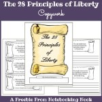 Freebie: The 28 Principles of Liberty Copywork