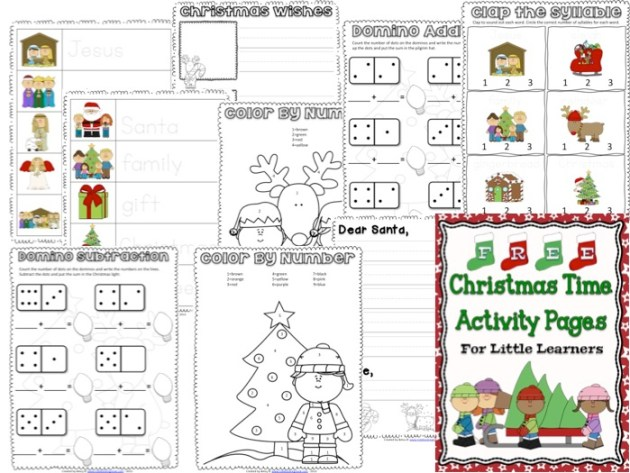 FREE Christmas Time Activity Pages